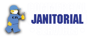 commercial janitorial logo with spray bottle